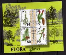 SLOVENIA SLOVENIJA SLOVENIE SLOWENIEN 1998 FLORA CONIFEROUS TREES Nadelbäume BLOCK SHEET BLOCCO FOGLIETTO BLOC FDC - Slovenia