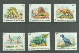PREHISTORIC ANIMALS - MALDIVES -1972 -  DINOSAURS SET OF 6  MNH SG CAT £12 - Maldives (1965-...)