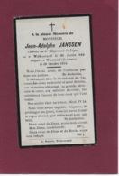 JEAN-ADOLPHE JANSSEN: WELKENRAEDT-WEZEMAAL(LEUVEN)-OORLOG  1914-18-GESNEUVELDE SOLDAAT-MILITARIA-GESNEUVELD - Overlijden