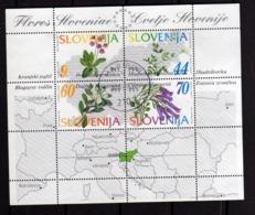 SLOVENIA SLOVENIJA SLOVENIE SLOWENIEN 1994 FLORA FLOWERS FIORI FLEURS Nadelbäume BLOCK SHEET BLOCCO FOGLIETTO BLOC FDC - Slovenia