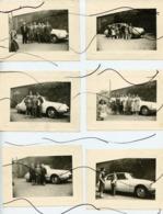 6 PHOTOS. Citroën DS, ID . Ancienne Voiture Avec Personnages. Année 1957 - Cars