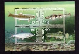 SLOVENIA SLOVENIJA SLOVENIE SLOWENIEN 1997 SEA FAUNA ENDANGERED FISH FISHES PESCI BLOCK SHEET BLOCCO FOGLIETTO FDC - Slovenia