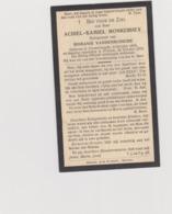 DOODSPRENTJE MONKERHEY ACHIEL ECHTGENOOT VANDENBUSSCHE VLAMERTINGE PROVEN (1875 - 1932) - Devotion Images