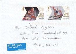 Jeux Olympiques - Grande Bretagne - Lettre De 2012  ? - Heptathlon Femmes - Canoë Pour 2 - Summer 2012: London