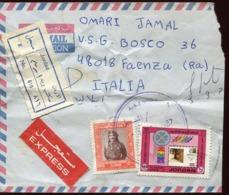 47400 Jordan, Circuled Registered Cover 1987 To Italy - Jordan