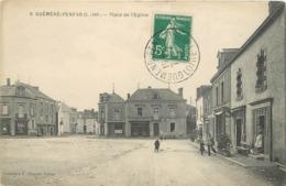GUEMENE-PENFAO  - Place De L'église.(Boucherie H.Boisman). - Guémené-Penfao