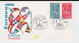 France 1966 FDC Europa CEPT (SKO16-42) - Europa-CEPT