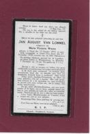 JAN VAN LOMMEL: OEVEL-TEN AART-WESTMEERBEEK-GHEEL-GEEL - Todesanzeige