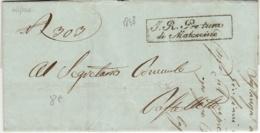 3740 01 PRETURA MALCESINE X CASTELLETTO 1848 -CON TESTO - 1. ...-1850 Prefilatelia