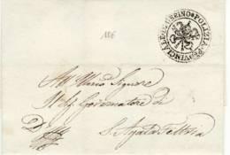 3741 01 URBINO POLIZIA PROVINCIALE X SANT  AGATA FELTRIA ANNO 1842 - SENZA TESTO - 1. ...-1850 Prephilately