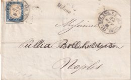 LOMBARDIE-VENETIE 1861 LETTRE DE MILANO POUR NAPOLI - Lombardo-Veneto