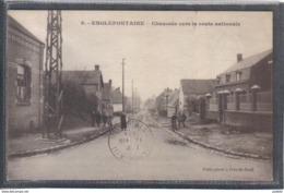 Carte Postale 59. Englefontaine  Chaussée Vers La Route Nationale Très Beau Plan - France