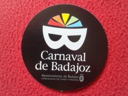 SPAIN PEGATINA ADHESIVO STICKER CARNAVAL DE BADAJOZ AYUNTAMIENTO CARNIVAL CARNEVALE KARNEVAL MÁSCARA MASK MASKE VE FOTOS - Pegatinas