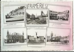 FRAMERIES - Multi-vues - Charbonnage Du Grand Trait - Clinique - Grand Rue - Maison Communale - Eglise - Monument 1961 - Frameries