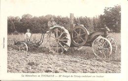 CRISSAY (37) Mr Georget De Crissay Conduisant Don Tracteur (La Motoculture En TOURAINE) - Autres Communes