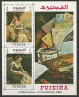 Fujeira,Art-International Letter-writing Week 1968.,block,MNH - Fujeira
