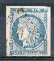 YT N° 4f - Cote: 65,00 € - 1849-1850 Ceres