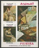 Fujeira,Art-International Letter-writing Week 1970.,block-imperforated,MNH - Fujeira