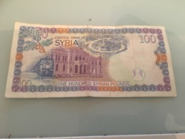 Billet 100 Pounds Syrie 1998 - Syrie
