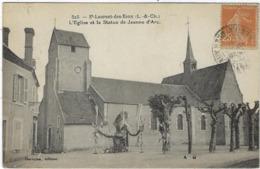 41 Saint Laurent  Des Eaux  L'eglise Et La Statue De Jeanne D'arc - France