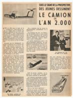 COUPURE De PRESSE 1966 - DES JEUNES DÉSSINENT LE CAMION De L'AN 2000 - SAVIEM - Trucks