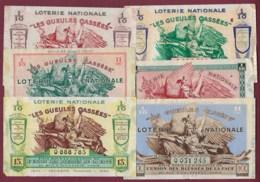220919 - 13 BILLETS LOTERIE NATIONALE Les Gueules Cassées 1936 1937 1938 1939 - Lottery Tickets