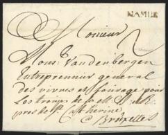 """L. 1750 Marque NAMUR + """"2"""" Pour Bruxelles. - 1714-1794 (Austrian Netherlands)"""
