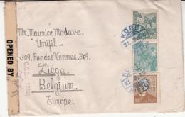 Lettre Du Japon   Vers Liège   1919    Censure  2 Scan - Oorlog 14-18