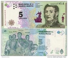 ARGENTINA     5 Pesos    P-359     ND (2015)    UNC  [ Sign.Vanoli - Boudou ] - Argentina