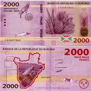 BURUNDI       2000 Francs       P-52       15.1.2015       UNC - Burundi