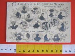 GCB ITALIA 1910 MILANO AVIATORI GARE CONCORRENTI TRAVERSATA DELLE ALPI CHAVEZ AIR AVIAZIONE AEREO - Aviateurs