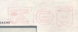 EMA METER STAMP FREISTEMPEL GERMANY DAIMON ALLKRAFT KOLN - [7] République Fédérale