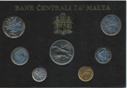 Malte - Monnaie De 1991 - 7 Pièces De 1 Cent à 1 Lira FDC - Bank Centrali Ta' Malta - Malta