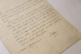 1772 Comte De Buffon Lettre Signée à Thouin Montbard Naturaliste Sciences Santé - Autographes