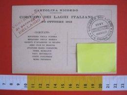 GCB ITALIA 1913 AVIATORI ISCRITTI CIRCUITO DEI LAGHI TIMBRO CONTROLLO BELLAGIO COMO AIR AVIAZIONE AEREO - Aviateurs