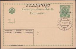 Aistria - Bosnia And Herzegovina, Feldpost - Portofrei 1914-16, B. Buchwald Sarajevo. K.u.K. FELDPOSTAMT 1 XII 1915. - Postwaardestukken