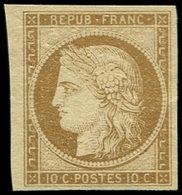 (*) EMISSION DE 1849 - 1    10c. Bistre-jaune, Bdf, TB - 1849-1850 Ceres