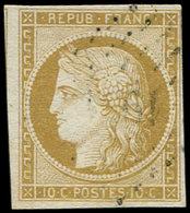 EMISSION DE 1849 - 1    10c. Bistre-jaune, Obl. PC 19( ), Frappe Légère, Effigie Dégagée, TB - 1849-1850 Ceres