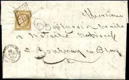 Let EMISSION DE 1849 - 1    10c. Bistre-jaune, Obl. GRILLE S. LAC, Càd T15 GOURNAY En BRAY 19/4/51, TB - 1849-1850 Ceres