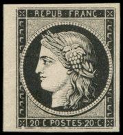(*) EMISSION DE 1849 - 3a   20c. Noir Sur Blanc, Petit Bdf, TB. C - 1849-1850 Ceres