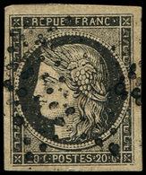 EMISSION DE 1849 - 3    20c. Noir Sur Jaune, Annulation De Stock, TB - 1849-1850 Ceres