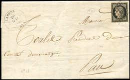 Let EMISSION DE 1849 - 3    20c. Noir Sur Jaune, Obl. GRILLE S. LAC, Càd T14 LARUNS 20/5/49, TB - 1849-1850 Ceres