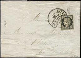 Let EMISSION DE 1849 - 3    20c. Noir Sur Jaune, Obl. Càd T13 LILLE 17/3/49 S. LAC, TTB - 1849-1850 Ceres