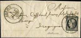 Let EMISSION DE 1849 - 3a   20c. Noir Sur Blanc, Lég. Effl., Obl. Càd T13 Répété à Côté FREJUS 1 JANV 1849 S. LAC, Grand - 1849-1850 Ceres
