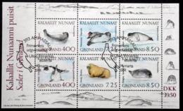 Greenland 1991 RIBBEN   MiNr.211-16  Block 3 ( Lot Mappe) - Usados
