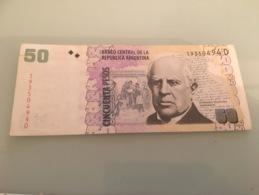 Billet 50 Pesos Argentine 2012 - Argentine