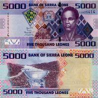 SIERRA LEONE       5000 Leones       P-32b       4.8.2015       UNC - Sierra Leone
