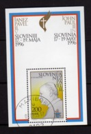 SLOVENIA SLOVENIJA SLOVENIE SLOWENIEN 1996 POPE VISIT VISITA DEL PAPA BLOCK SHEET BLOCCO FOGLIETTO FDC - Slovenia