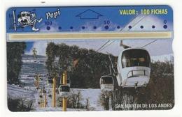ARGENTINA___Landis Gyr POPI___ARG-PO-17 (CN: 407E) CableCar 100 Fichas__rare L&G - Argentine