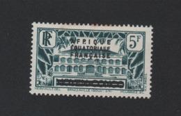 Faux Afrique équatorale N° 14a 5 F Afp.ique Au Lieu De Afrique Gomme Charnière - A.E.F. (1936-1958)
